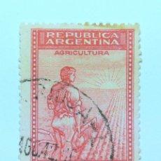 Sellos: SELLO POSTAL ARGENTINA 1949, 25 C ,AGRICULTURA , USADO. Lote 153658170