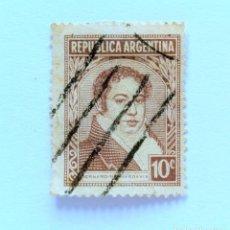 Sellos: SELLO POSTAL ARGENTINA 1949, 10 C, BERNARDINO RIVADAVIA ,USADO. Lote 153684030