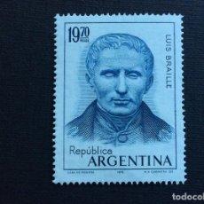 Sellos: ARGENTINA Nº YVERT 1051*** AÑO 1976. 150 ANIVERSARIO ESCRITURA BRAILLE. Lote 156403158