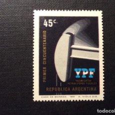 Sellos: ARGENTINA Nº YVERT 926*** AÑO 1972. 50 ANIVERSARIO EXPLOTACION PETROLIFERA. Lote 158172850
