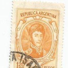 Sellos: LOTE DE 13 SELLOS USADOS DE ARGENTINA DESDE 1954 A 1980- VARIOS VALORES Y AÑOS-VER FOTOS. Lote 158739082