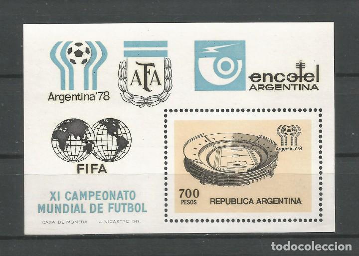SELLOS DE ARGENTINA AÑO 1978. H.B. Nº 18 CAT.ÁL. SELLOS POSTALES'98. AUTOR: DANIEL HUGO MELLO TEGGIA (Sellos - Extranjero - América - Argentina)