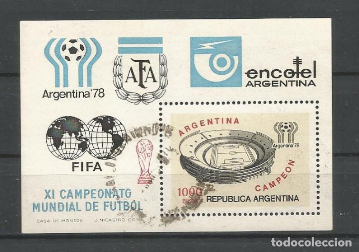 ARGENTINA AÑO 1978. H.B. Nº 19 USADA. CATÁL. SELLOS POSTALES'98. AUTOR: DANIEL HUGO MELLO TEGGIA (Sellos - Extranjero - América - Argentina)