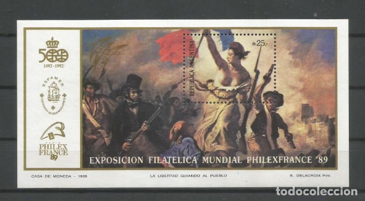 ARGENTINA /1989. H.B. Nº 52 NUEVA. CATÁL. SELLOS POSTALES'98. AUTOR: DANIEL HUGO MELLO TEGGIA (Sellos - Extranjero - América - Argentina)