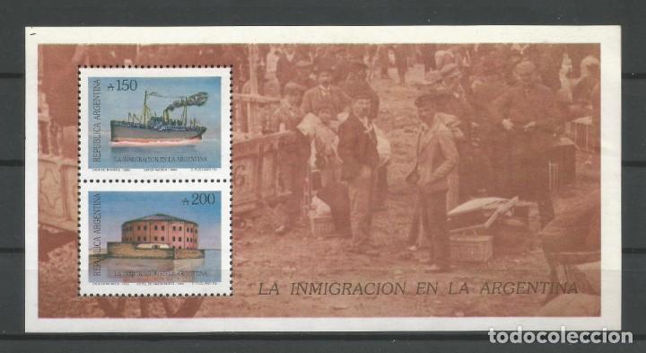 ARGENTINA /1989. H.B. Nº 53 NUEVA. CATÁL. SELLOS POSTALES'98. AUTOR: DANIEL HUGO MELLO TEGGIA (Sellos - Extranjero - América - Argentina)