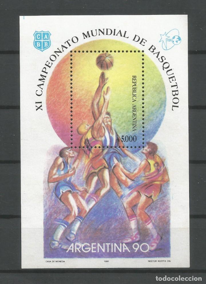 ARGENTINA /1990. H.B. Nº 56 NUEVA. CATÁL. SELLOS POSTALES'98. AUTOR: DANIEL HUGO MELLO TEGGIA (Sellos - Extranjero - América - Argentina)
