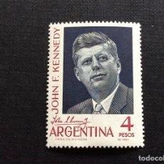 Sellos: ARGENTINA Nº YVERT 685*** AÑO 1964. ANIVERSARIO MUERTE PRESIDENTE KENNEDY. Lote 160048146