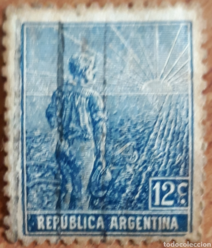 SELLO REPUBLICA ARGENTINA 12 CENTAVOS 1910-1920 (Sellos - Extranjero - América - Argentina)