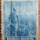 Sellos: SELLO REPUBLICA ARGENTINA 12 CENTAVOS 1910-1920. Lote 160263954