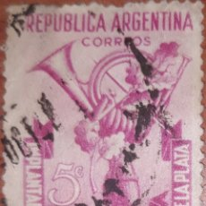Sellos: SELLO REPUBLICA ARGENTINA 5 CENTAVOS 1942. Lote 160365672