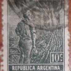 Sellos - Sello Republica Argentina 10 centavos 1910-20 - 160368113