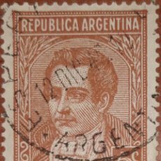 Sellos: SELLO REPUBLICA ARGENTINA 5 CENTAVOS 1937. Lote 160374829