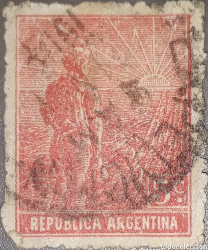 SELLO REPUBLICA ARGENTINA 5 CENTAVOS 1914 (Sellos - Extranjero - América - Argentina)