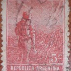 Sellos: SELLO REPUBLICA ARGENTINA 5 CENTAVOS 1913. Lote 160398126
