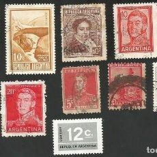 Sellos: ARGENTINA VARIOS AÑOS - LOTE DE 11 SELLOS USADOS. Lote 163982610