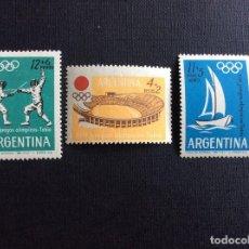 Sellos: ARGENTINA Nº YVERT 689/0 +A 99*** AÑO 1964. JUEGOS OLIMPICOS DE TOKYO. Lote 163994910