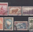 Sellos: ARGENTINA. 1935. YVERT 375/384 ( 7 VALORES, SERIE INCOMPLETA ). USADOS.. Lote 165109946