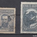 Sellos: ARGENTINA. 1942. YVERT 423/424. USADOS.. Lote 165114006