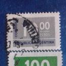 Sellos: ARGENTINA 1976. YVERT 1043/1044. CIFRAS. USADOS.. Lote 168807544