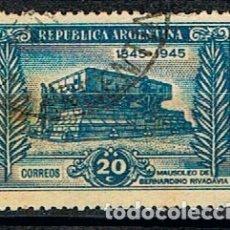 Sellos: ARGENTINA 545, CENTENARIO DE BERNARDINO RIVADAVIA, UNIFICADOR DE ARGENTINA (AÑO 1945), USADO. Lote 175703507