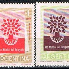 Sellos: ARGENTINA 745/6, NUEVO * (SERIE COMPLETA). Lote 175710065