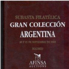 Sellos: SUBASTA.GRAN COLECCIÓN ARGENTINA MADRID 2000 AFINSA. Lote 176588262