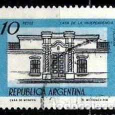 Sellos: ARGENTINA SCOTT 1161 (CASA DE LA INDEPENDENCIA, TUCUMÁN) USADO. Lote 177517377