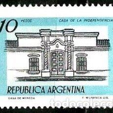 Sellos: ARGENTINA SCOTT 1161 (CASA DE LA INDEPENDENCIA, TUCUMÁN) USADO. Lote 177517390