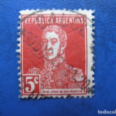 Sellos: ARGENTINA 1923, GENERAL SAN MARTIN, YVERT 301. Lote 177603425