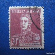 Sellos: ARGENTINA 1923, GENERAL SAN MARTIN, YVERT 307. Lote 177603675