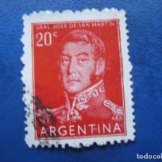 Sellos: ARGENTINA 1954, GENERAL SAN MARTIN, YVERT 546. Lote 177630350