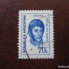 Sellos: ARGENTINA 1973, GENERAL SAN MARTIN, YVERT 949. Lote 177642820