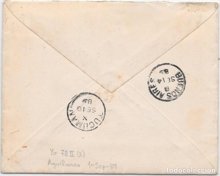 Sellos: ARGENTINA. CATALUÑA. YVERT Nº 78 II. SOBRE DE TUCUMAN A SAN MARTIN DE TORRUELLA. 1889 - Foto 2 - 182669538