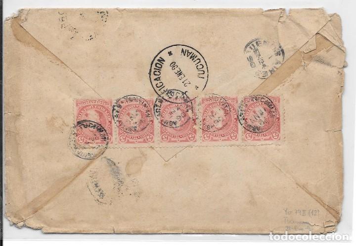 Sellos: ARGENTINA. CATALUÑA. YVERT Nº 78 II. SOBRE DE AGUILARES A SAN MARTIN DE TORRUELLA. 1889 - Foto 2 - 182670700