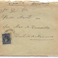 Sellos: ARGENTINA. CATALUÑA. YVERT Nº 100. SOBRE DE CORDOBA A SAN MARTIN DE TORRUELLA. 1894. Lote 182672642