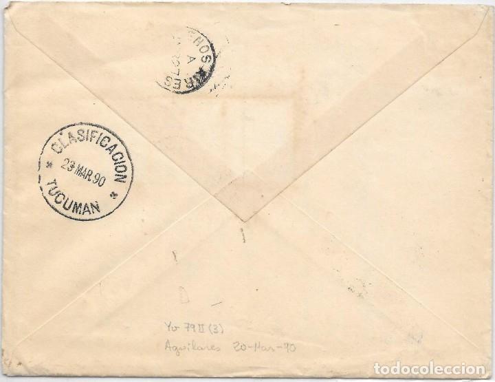Sellos: ARGENTINA. CATALUÑA. YVERT Nº 78 II. SOBRE DE AGUILARES A SAN MARTIN DE TORRUELLA. 1890 - Foto 2 - 182673278