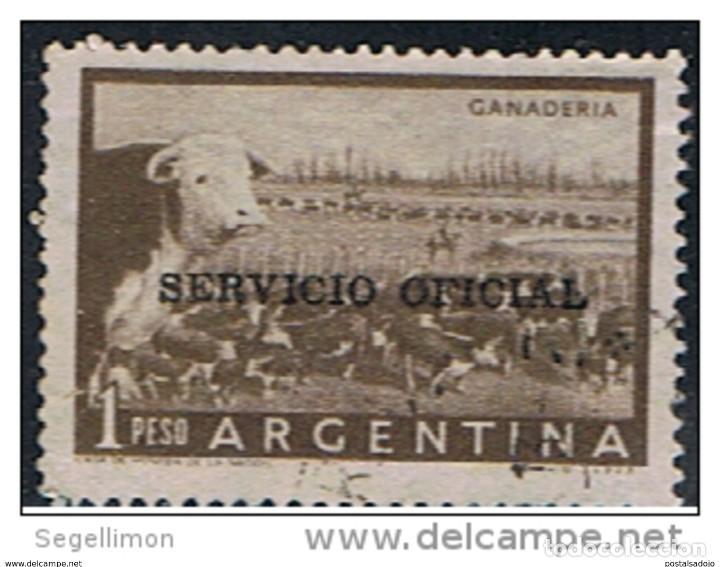 ARGENTINA // YVERT 386 SERVICIO OFICIAL // 1955 (Sellos - Extranjero - América - Argentina)