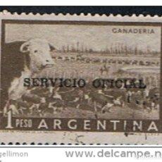 Sellos: ARGENTINA // YVERT 386 SERVICIO OFICIAL // 1955. Lote 183576600