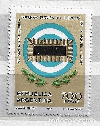 ARGENTINA,1980,ESCUELA SUPERIOR DEL EJÉRCITO,NUEVO,MNH**YVERT 1232 (Sellos - Extranjero - América - Argentina)