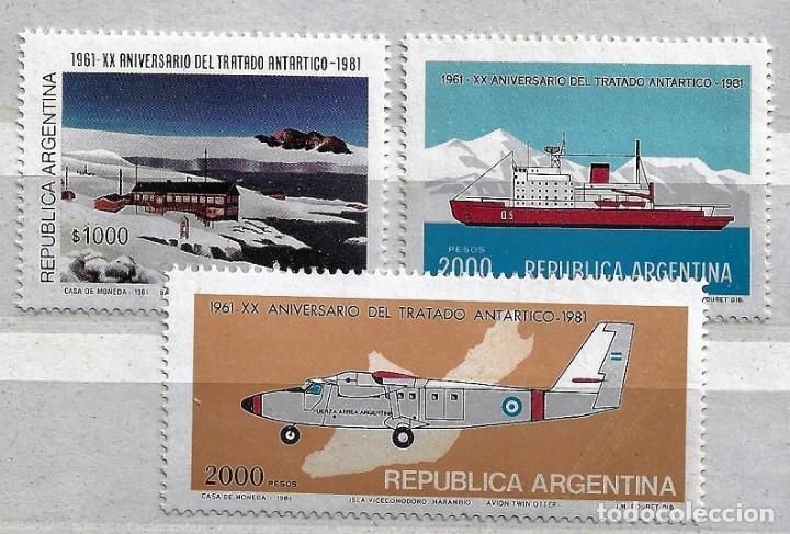 ARGENTINA,1980,20 ANIVERSARIO DEL TRATADO DE LA ANTÁRTIDA,NUEVO,MNH**YVERT 1246-1248 (Sellos - Extranjero - América - Argentina)