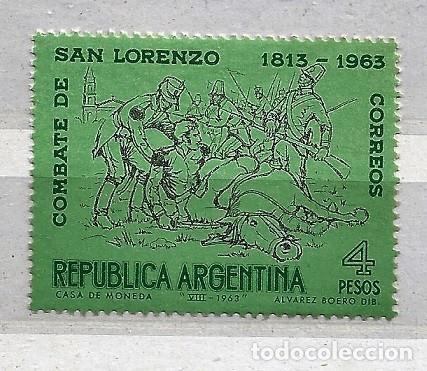 ARGENTINA,1963,BATALLA DE SAN LORENZO,NUEVO,MNH**YVERT 673 (Sellos - Extranjero - América - Argentina)