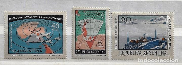 ARGENTINA,1968,ANTÁRTIDA ARGENTINA,NUEVO,MNH**,CON RESTOS DE PAPEL,YVERT 806-808 (Sellos - Extranjero - América - Argentina)