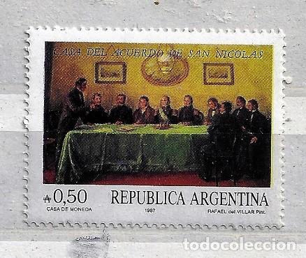 ARGENTINA,1987,CASA DEL ACUERDO DE SAN NICOLÁS,NUEVO,MNH**,YVERT 1604 (Sellos - Extranjero - América - Argentina)