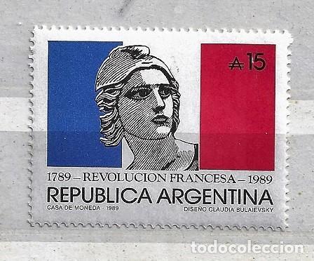 ARGENTINA,1988,200 ANIVERSARIO DE LA REVOLUCIÓN FRANCESA,NUEVO,MNH**,YVERT 1680 (Sellos - Extranjero - América - Argentina)