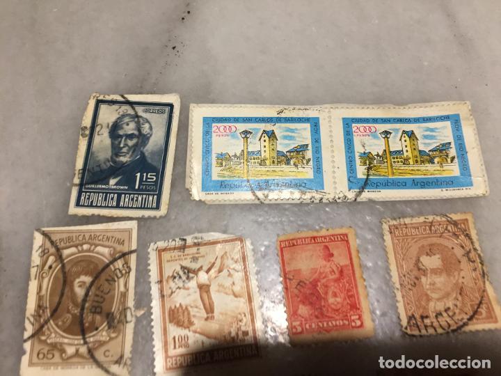 Sellos: Antiguo lote de sello / sellos de Republica Argentina matasellados, varios años 40-50-60-70-80-90 - Foto 2 - 188684663