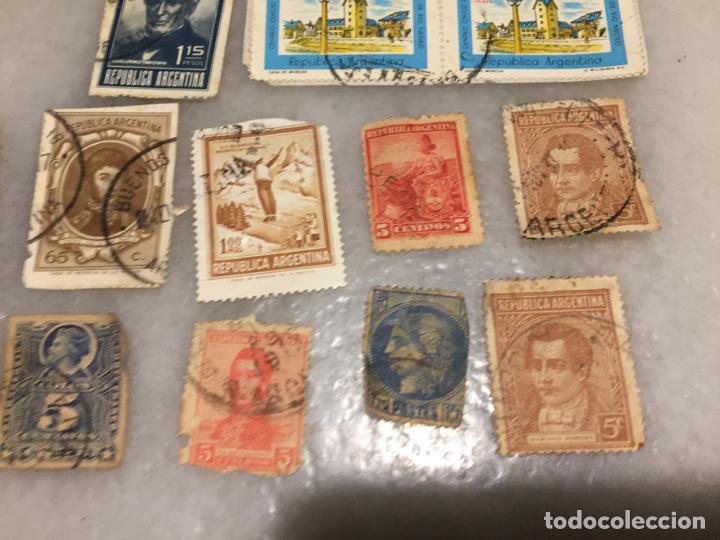 Sellos: Antiguo lote de sello / sellos de Republica Argentina matasellados, varios años 40-50-60-70-80-90 - Foto 3 - 188684663