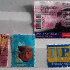 Sellos: ARGENTINA, LOTE DE 4 SELLOS USADOS DIFERENTES. Lote 190104560
