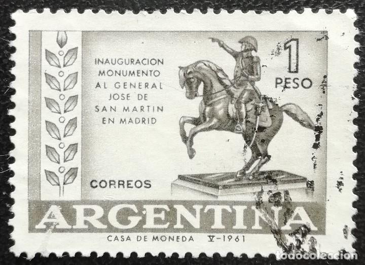 1961. ARGENTINA. 644. MONUMENTO A LA MEMORIA DEL GENERAL SAN MARTÍN. SERIE COMPLETA. USADO. (Sellos - Extranjero - América - Argentina)