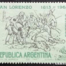 Sellos: 1963. ARGENTINA. 673. 150 AÑOS DE LA BATALLA DE SAN LORENZO. SERIE COMPLETA. USADO.. Lote 190226770