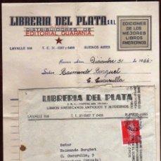 Sellos: GIROEXLIBRIS. ARGENTINA.-CARTA COMERCIAL DE LIBRERÍA DEL PLATA CIRCULADA DE BUENOS AIRES A BARCELONA. Lote 191578621